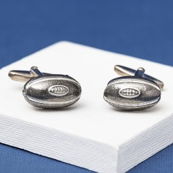 Pewter Rugby Ball Cufflinks