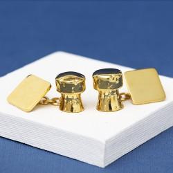 Gold Champagne Cork Cufflinks