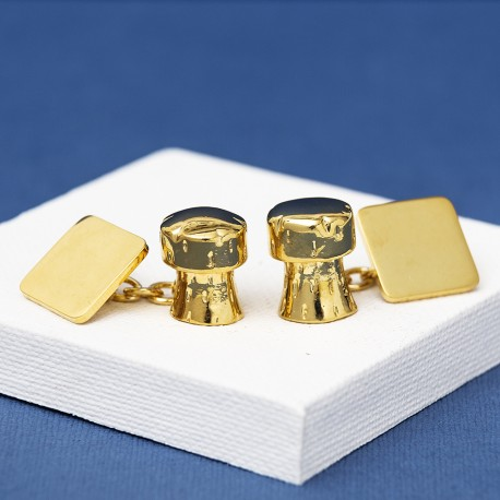 Gold Champagne Cork Cufflinks