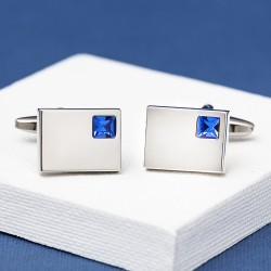 Vianteo Crystal Blue Cufflinks