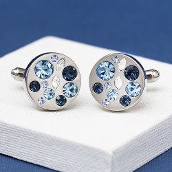 ALLURE Blue Crystal Cufflinks