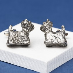 Pewter Westie Cufflinks