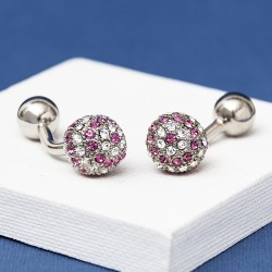 YALE Rose Crystal Cufflinks