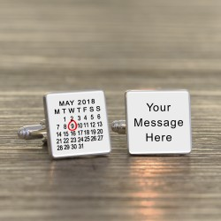 Any Date and Message Cufflinks