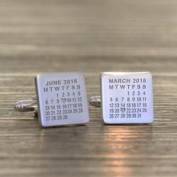 Personalised Calendar Cufflinks
