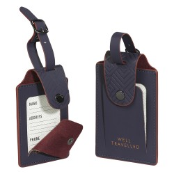 Ted Baker Blue Cadet Luggage Tags - Set Of 2