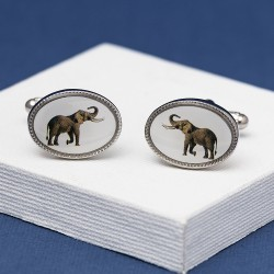 Elephant Oval Cufflinks