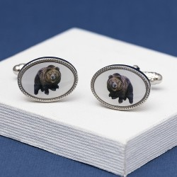 Bear Oval Cufflinks