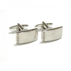 Crystal Curved Cufflinks