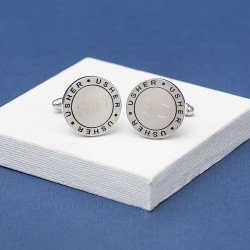 Engraved Eternal Wedding Role Cufflinks