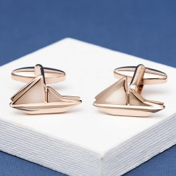 Rose Gold Boat Cufflinks