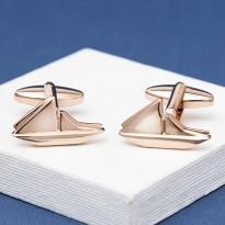 Rose Gold Boat Cufflinks