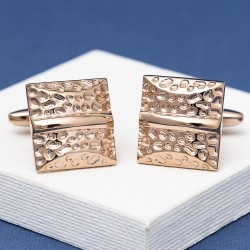Rose Gold Cushion Cufflinks