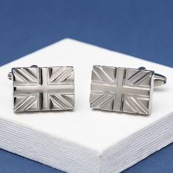 Silver Union Jack Cufflinks