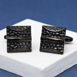 Black Cushion Cufflinks
