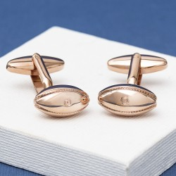 Rose Gold rugby Ball Cushion Cufflinks