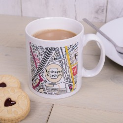 Football Stadium Map Mug