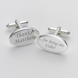 Personalised Usher Thank You Cufflinks