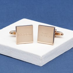 Modern Wedding Cufflinks Engraved