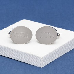 Engraved Cufflinks Oval Any Message
