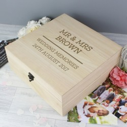 Mr and Mrs Keepsake Box