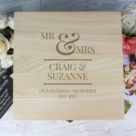 Mr and Mrs Scroll Keepsake Box