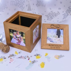 Personalised Mr and Mrs Photo Cube