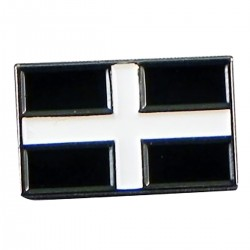 St Piran Flag Lapel Pin