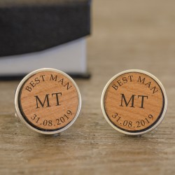 Personalised Wooden Wedding Party Cufflinks