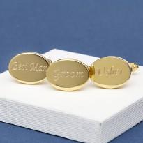 Gold Wedding Cufflinks Personalised
