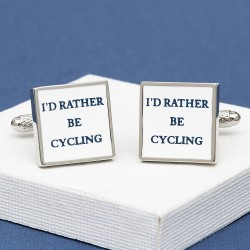 I'd Rather Be Cycling Cufflinks