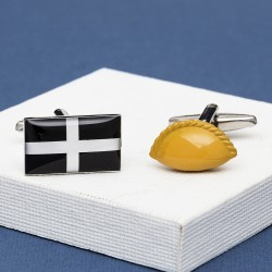 Cornish Flag and Pasty Cufflinks