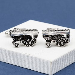Steam Traction Engine Cufflinks