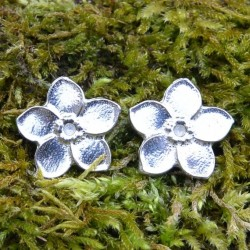 Pewter Forget Me Not Flower Cufflinks