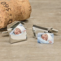Envelope Photo Cufflinks - Any Photo- Personalised Cufflinks