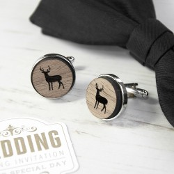 Wooden Stag Cufflinks