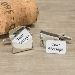 Any Message Envelope Cufflinks - Personalised Cufflinks