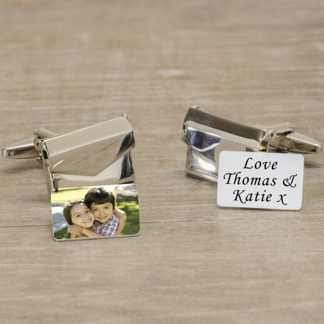 Envelope Cufflinks - Any Message and Photo