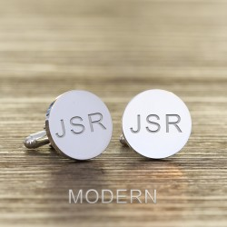 Initials and Hidden Message Engraved Cufflinks