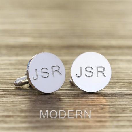 Initials and Hidden Message Engraved Cufflinks