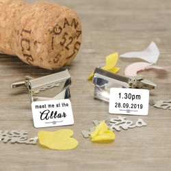 Meet Me At The Altar Envelope Cufflinks - Personalised Cufflinks