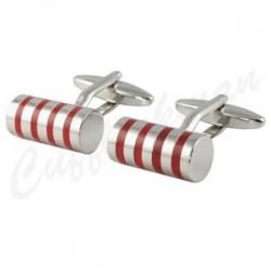 Red Magic Cylinder Cufflinks