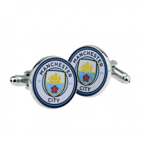 Manchester City Crest Football Sports Cufflinks Antique Gold Plated