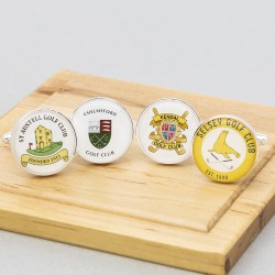 Golf Club Cufflinks Personalised