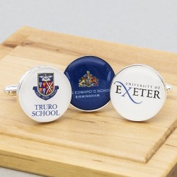 School University Logo Cufflinks Personalised