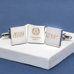 Logo Engraved Cufflinks Square