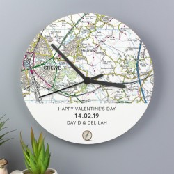 Personalised Present Day Map Clock