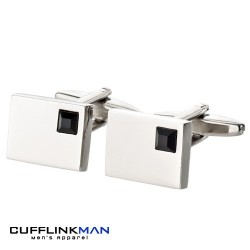 Vianteo Crystal Black Cufflinks
