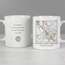 Personalised Present Day Map Mug