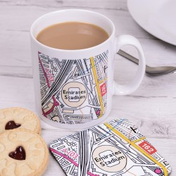 Football Club Map Mug and Coaster
